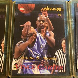 VINCE CARTER 1998-1999 Collector's Edge IMPULSE ROOKIE #3 Lot Of 3 CARDs