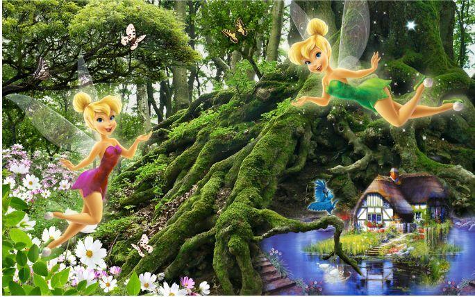 3D Schöne Waldelfen Waldelfen Waldelfen 245 Fototapeten Wandbild Fototapete BildTapete Familie cdb09d