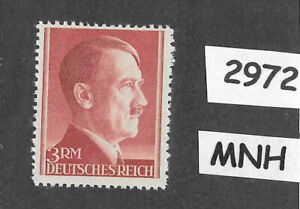 #2972     MNH 3RM Adolph Hitler stamp / 1942-1944 Third Reich Germany /  Sc526a
