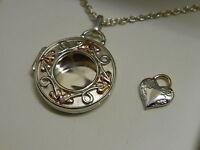 Clogau Silver & Rose Welsh Gold Inner Charm Evolutionary Locket & Heart Set