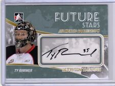 TY RIMMER 10/11 ITG BTP Auto Autograph Rookie A-TRI Signed Hockey Card