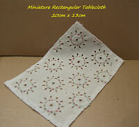 Miniature Table Linen - Rectangular Tablecloth - 20cm X 13cm