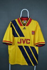 ARSENAL 1993 1994 AWAY FOOTBALL SHIRT SOCCER JERSEY ADIDAS VINTAGE Sz L