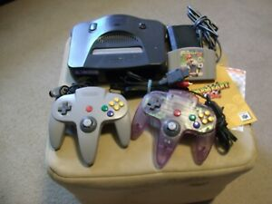 Details about Nintendo 64 Charcoal Grey Console 2 Controllers Mario Kart 64