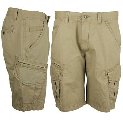 Details about Camel Active Men's Madison Cargo Shorts Beige Plain 1z93 496620 21