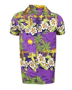 Mens Womens Hawaiian Shirt Aloha Beach Party Surf Holiday Stag Dance Floral Tee