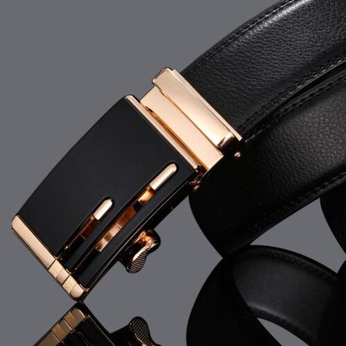 Men/'s Genuine Leather Automatic Buckle Belt Waist Strap Belt Waistband 110-140cm