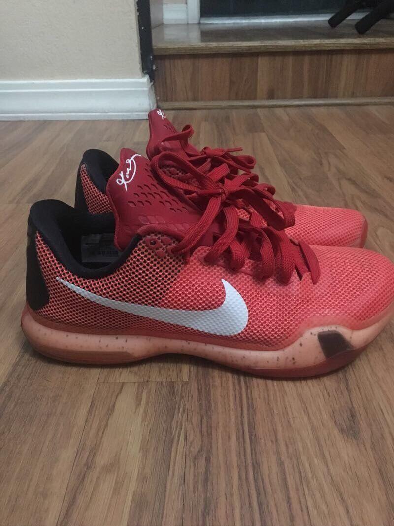 Kobe 10 X red Majors size 9