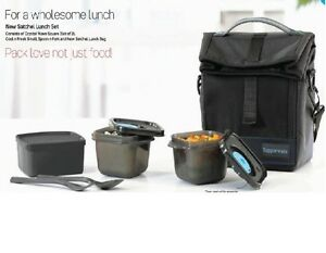 Tupperware Tiffin Lunch Box Best Trendy Classic Executive Black THE NEW SATCHEL