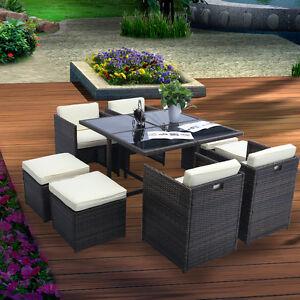 polyrattan gartengarnitur garten m bel gartenset lounge sitzgruppe essgruppe ebay. Black Bedroom Furniture Sets. Home Design Ideas