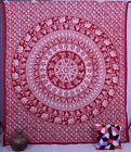 Indian Elephant Mandala Tapestry Wall Hanging Hippie Bohemian Ethnic Decor Art
