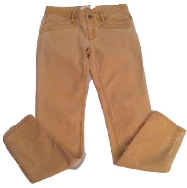 NWOT $230 Derek Lam 10 Crosby Mustard Ladies Ankle Jeans Waist 30