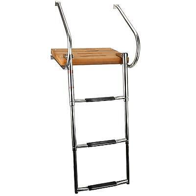 Hot Sale Boat Inboard Swim Platform Ladder Stainless Rail 3 Step Telescop Ladder