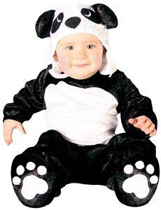 Bebé CHICAS CHICOS Negro Blanco Oso Panda Chino Animal Fancy Dress Costume Outfit  </span>