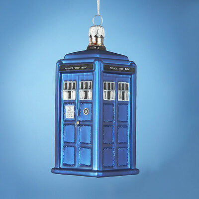 KURT S. ADLER HANDCRAFTED GLASS DOCTOR WHO TARDIS ...