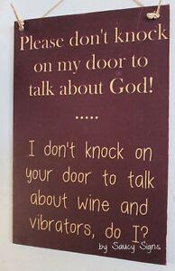 Naughty-Door-Knockers-Wine-Vibrator-God-Sign-no-soliciting-warning-vibrators