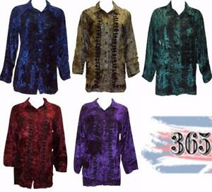 VINTAGE-INSPIRED-CRUSHED-VELVET-EMBROIDERED-SIDE-SPLIT-BUTTON-DOWN-SHIRT