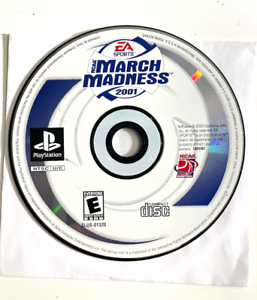 MARCH MADNESS 2001 SONY PLAYSTATION PS1 - GAME DISC ONLY TESTED ++ WORKING!