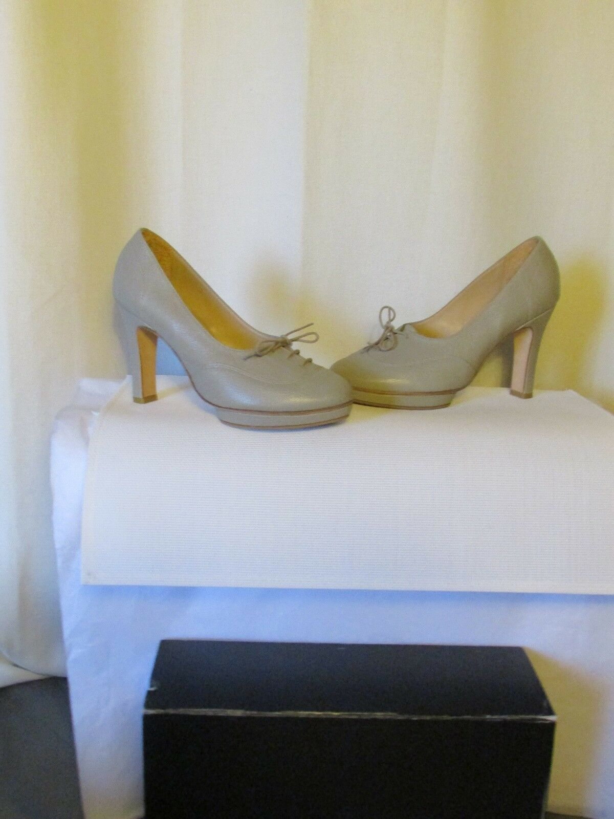 Court shoes REPETTO leather granulated grey 38