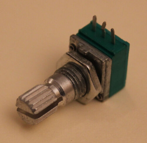 BOUTON ALU 50 kOhm -Type P09 POTENTIOMETRE MINIATURE 9mm AXE 6 mm