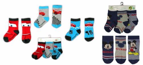 Cars 3er Pack Socken Mickey Mouse Strümpfe Erstlingssöckchen 13-18 Baby Disney