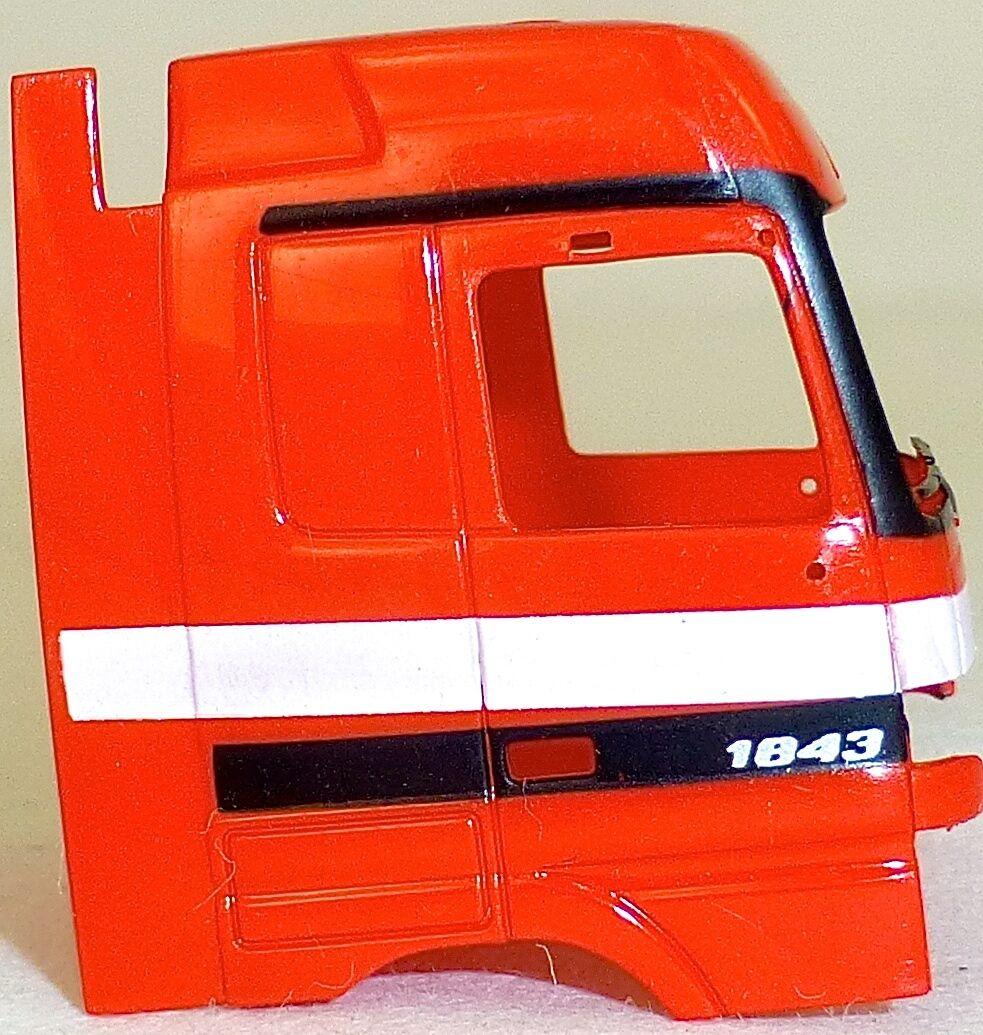 10 x Autocarro Cabina di Guida Guida Guida Mercedes 1843 red Carico Mestiere Deco 1 87 H0 a70417