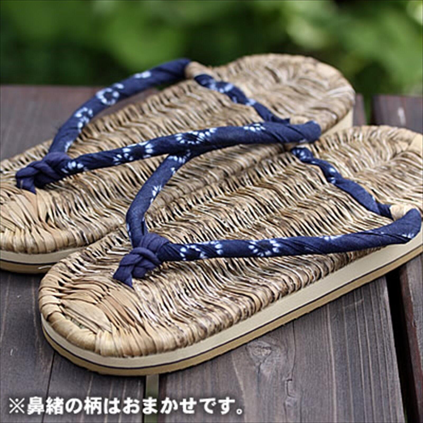 Japanese Traditional Bamboo Skin Health Slippers Zori Waraji Hand Made Mens 28cm