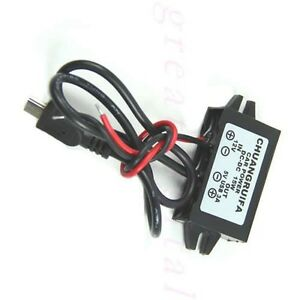 Car Power Adapter DC 12V to 5V 3A 15W Waterproof DC Converter Mini USB
