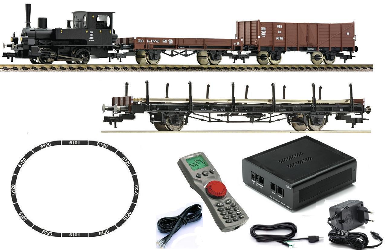 Fleischmann h0 631582 multicolore su base Startset mouse OBB Locomotiva e Vagoni addizionale 523611 NUOVO