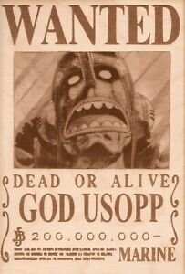 One Piece - God Usopp Wooden Wanted Poster