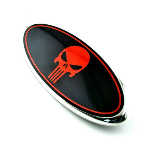 """9/"""" Inch The Punisher Red Front Grille Hood Oval Emblem for Ford 2004-2014 F150"""