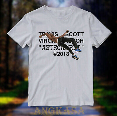 Promo Travis Scott X Virgil Abloh By A Thread T Shirt Cactus Jack White Tee Ebay