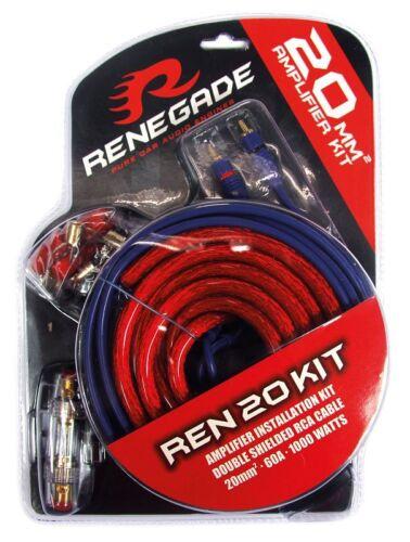 Renegade ren20 kabelset 20mm² cable conexión para amplificadores etapa final