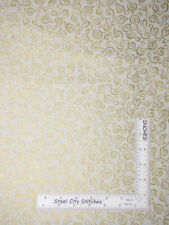 Christmas Pine Cones Gold Accent Cotton Fabric Timeless Treasures CM3292 Yard