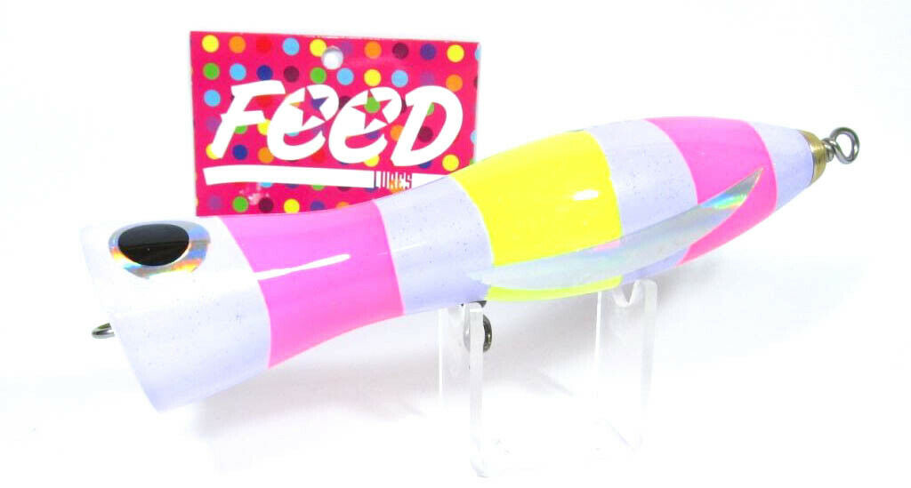 Feed Feed Feed Lures Pin 150 Hand Made Wood Popper Floating Lure 150 grams 43 (2043) fafb46