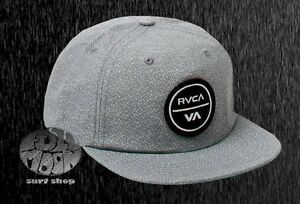 save off 04a23 4ff36 Image is loading New-RVCA-Pepper-Mens-Snapback-Cap-Hat