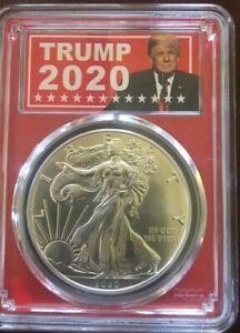 2020-PCGS-MS-70-American-Silver-Eagle-in-Trump-2020-Label