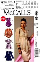 Mccall's Sewing Pattern M6469 Women's Easy Pullover Tops Tunic L-xl 6469