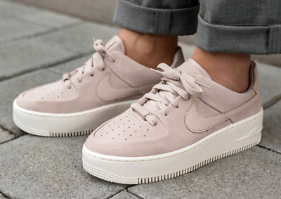 Women's Nike Air Force 1 SAGE Low Particle Beige Pink AR5339-201 Size 5-12   eBay