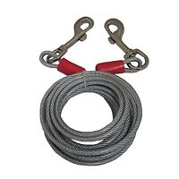 Black Rock 25' Galvanized Steel Cable With Bolt Snaps Tie Down Wire Rope 46457
