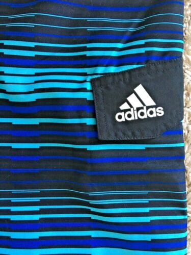 Size M Adidas Vara Stripe Swim Trunks Boys/' 8-20