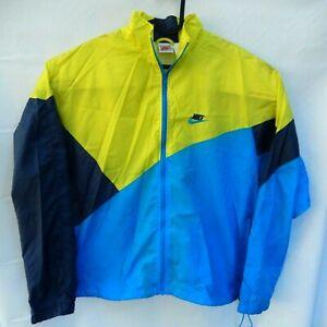 Nike-Vintage-Color-Block-Windbreaker-Blue-Yellow-90s-Size-M-Medium