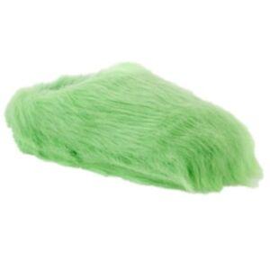 a11e5d315e4 So Womens Plush Green Faux Fur Clog Slippers Fuzzy Scuffs House ...