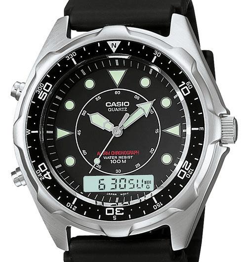 ef31eb607357 Casio Men s Vintage AMW320R-1EV Marine Analog-Digital Dive Watch
