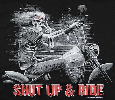 Shut Up And Ride Cross Motorcycle Enthusiast Biker Rider Chopper Juniors T-shirt