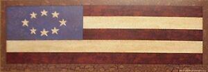 art-print-COLONIAL-FLAG-Jay-Zinn-Americana-patriotic-primitive-folk-17x6