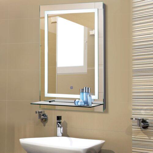 LED Badspiegel mit Beleuchtung Badezimmerspiegel Glas-Ablage 38W 70x50cm
