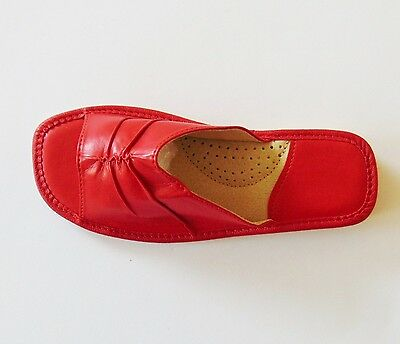 Señoras de cuero suave Zapatillas ** UE hecho a mano producto **