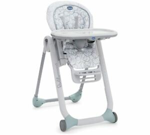 Chicco Polly Progres5 5 in 1 Highchair 5 point harness Sage Damaged