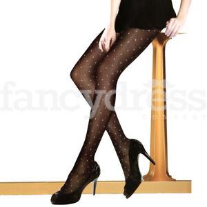 Ladies-300-Denier-Polka-Dot-Tights-Sheer-Dotty-Spots-Spotty-Pantyhose-NEW